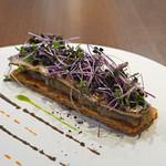 Bistro NOHGA  - 秋刀魚と茄子のタルト 黒オリーブと紫蘇