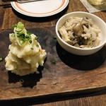97276449 - 前菜(ポテトサラダ、キノコのマリネ