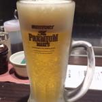 麺匠 黒春晴 - ドリンク写真:仕事の後の一杯は美味い