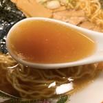 楽楽 - ラーメンのスープ