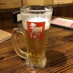 北の国バル 大宮店 - ビールには店名入り!