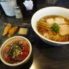 麺バルHACHIKIN - 料理写真:醤油Soba+鰹ご飯