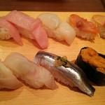 寿司 魚がし日本一 - 大トロ・ホタテ・赤貝・つぶ貝・ヒラメ・イワシ・ウニ