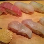 寿司 魚がし日本一 - 大トロ・ヒラメ・目鯛・玉子・つぶ貝・ゲソ
