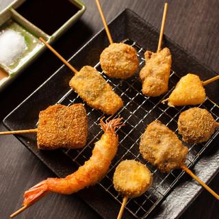 """上質な食材から生まれるハイクオリティな""""串揚げ""""を堪能◆"""