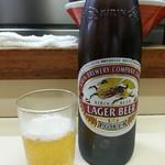 八ちゃんラーメン - ビール2018.11.21