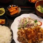 むちゃく - 鶏モモ炭焼定食  750円