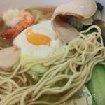 ら~めん&ぎょ~ざ MARUI - 麺アップ