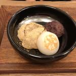 Mamezo&Cafe  - デザート三種盛り(生湯葉丼にデザートセット)