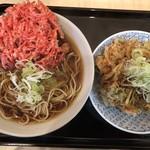 97292085 - 小エビ天丼小+紅生姜天そば670円
