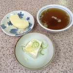 97296826 - デザートのりんご、スープ、小鉢の冷や奴('18/11/26)
