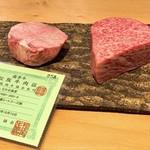 97302441 - 今回のお肉をカット