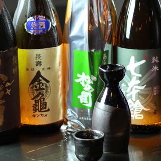全国の有名焼酎は<100種類以上>◎滋賀の銘酒も各種ご用意。