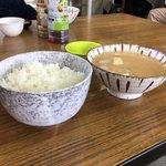 白ひげ食堂 - めし中  ¥190  豚汁  ¥250