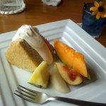 自然派レストラン&一日ひと組の宿 そうか - シフォンケーキデザート