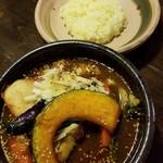 アジアンスープカリー べす - チキン野菜カリー 1130円 + チーズ 120円