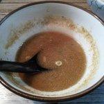 麺や輝の穴 - スープ割り