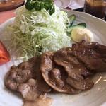 レストラン花咲 - 尾瀬豚のしょうが焼き 1,180円