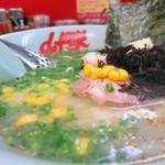 ラーメン山岡家 - 朝ラーメン+コーン+バター+黒ばら海苔