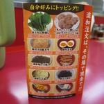 ラーメン山岡家 - 券売機に無いトッピングは口頭で注文