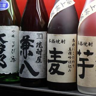 全国の有名焼酎は<100種類>以上!滋賀県の地酒も充実