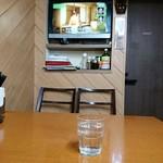 馬場南海 - 奥のテーブル席はテレビの前の特等席