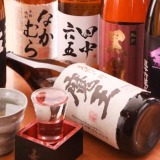お料理と相性抜群◎こだわりの日本酒、焼酎も多彩にご用意☆