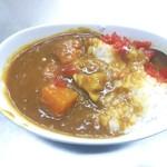 西新井ラーメン - ミニカレー!セットではないんですが一緒食べれるのは嬉しい!ご飯炊き立てで熱かったが甘めで美味しかった。
