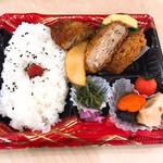 旬の市場 - ミンチカツ弁当(398円)@よど万
