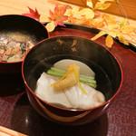 日本料理 太月 - 十日寝かせた五島列島くえ、聖護院かぶの椀物