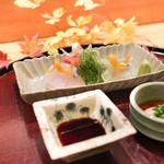 日本料理 太月 - 大間まぐろ、さより、かわはぎ、エンドウ芽