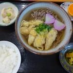 西谷温泉 水車茶屋 - 天ぷらそば定食