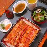 unagikappounakasei - 鰻重(松) 3200円             肝吸い 200円