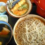手打蕎麦 和の里 - 料理写真:とんつけ ¥650と半天丼¥300