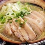 睡大虎 - 土鍋鶏塩ラーメン780円