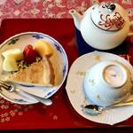 小机邸喫茶室 安居 - 料理写真:ケーキ&紅茶