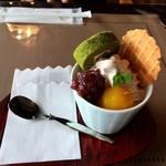 クラフトカフェ - 料理写真:栗の和風ミニパフェ