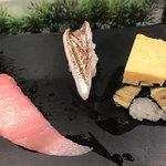 すしざんまい - 中トロ298円、太刀魚198円、玉子98円。中トロ美味しい〜(╹◡╹)。玉子は安定した美味しさ(^。^)。太刀魚は、二貫目もとても美味しくいただきました(╹◡╹)