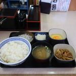 吉野家 - しらす牛小鉢定食(大盛)