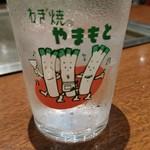 97363567 - グラスも葱でなんだかかわいい。