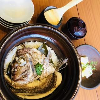【沖のや名物】和歌山直送の真鯛使用の「鯛めし」