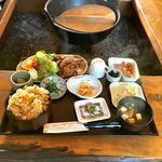 いき生き水文化 かばた館 - とんちゃん定食  ¥1000 ご飯大+¥100