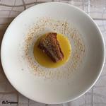 プチレストラン ブーケ・ド・フランス - 甘鯛の鱗焼にブタルグ