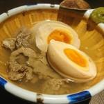 kawara CAFE&DINING - 牛すじと味玉のやさしい塩煮込み