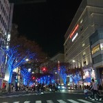 あつた蓬莱軒 - 名古屋の栄は 青いイルミネーション クリスマス✨
