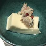 97373267 - 前菜のクリームチーズ豆腐 茸の白和え