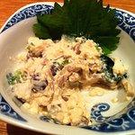 9738650 - 小松菜としめじの白和えは半分食べてしまいました。
