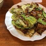味仙館 - 料理写真:肉とキャベツの味噌炒め(750円)