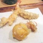 てんぷら黒川 - 海老、蝦蛄、黄身