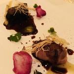 ラ・コリンヌ - 大分県国東半島産猪のロースト 猪の赤ワイン煮込み